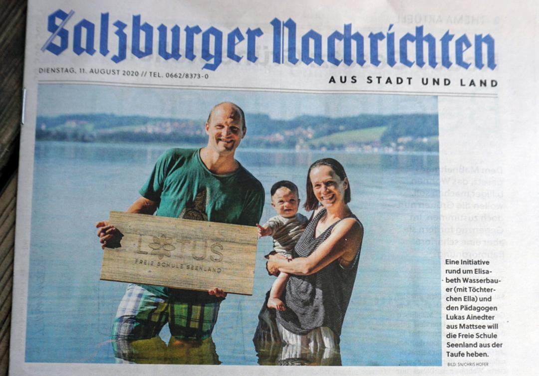 Lotus als Coverstory in den Salzburger Nachrichten